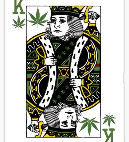 Playing cards in Amsterdam Sticker
