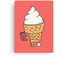 Ice cream poo Canvas Print