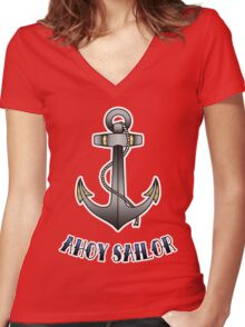 Ahoy Sailor Women's Fitted V-Neck T-Shirt