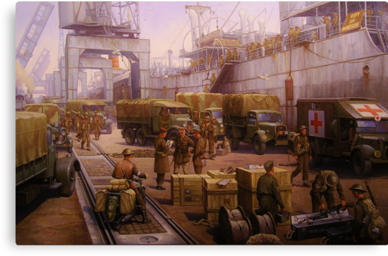 The 52nd Lowland at Cherbourg 1940 by Mike Jeffries