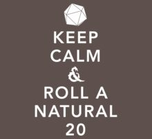 Keep Calm and Roll a Natural 20 One Piece - Short Sleeve