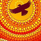 Sun Illuminating Eagle Spirit Medicine iPhone Case by Elspeth McLean