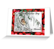 Tree Sparrow Christmas Card Winter Scene Greeting Card