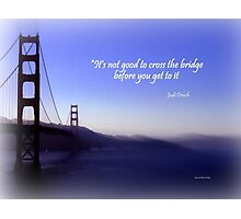 Golden Gate in Blue Hues Photographic Print