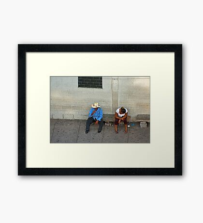 Sitting. Framed Print
