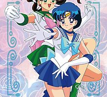 Sailor Mercury and Sailor Jupiter by neocrystaltokyo