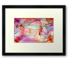 A Flaming Paradox Framed Print