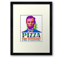 Pizza For Everyone! Framed Print