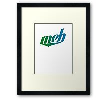 meh - Swoosh style - Green/blue Framed Print