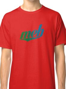 meh - Swoosh style - Green/blue Classic T-Shirt