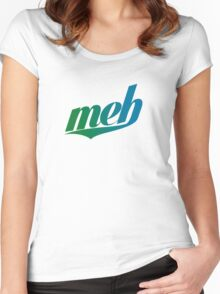 meh - Swoosh style - Green/blue Women's Fitted Scoop T-Shirt