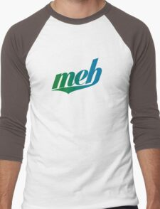 meh - Swoosh style - Green/blue Men's Baseball ¾ T-Shirt