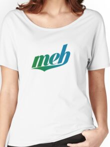 meh - Swoosh style - Green/blue Women's Relaxed Fit T-Shirt