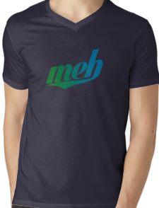meh - Swoosh style - Green/blue Mens V-Neck T-Shirt