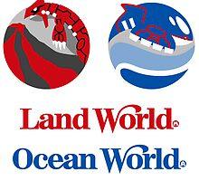 Sticker Pack! Hoenn Theme Parks: Land World + Ocean World by merimeaux