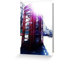 london in love telephone Greeting Card