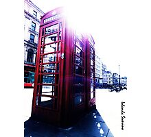 london in love telephone Photographic Print