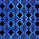 Blue Bicones Pattern by lacitrouille