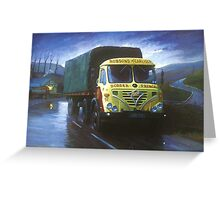 Foden S39 artic. Greeting Card