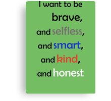 I Want to Be Divergent Canvas Print