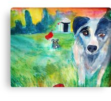 Curica and Plava and the Red  Kong Canvas Print