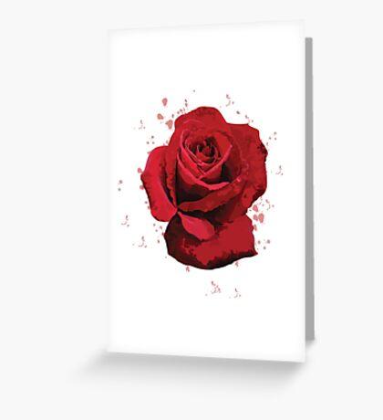 Rose Vector (illustrator) Greeting Card
