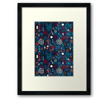 Earth, Water, Fire, Air - a watercolor pattern Framed Print