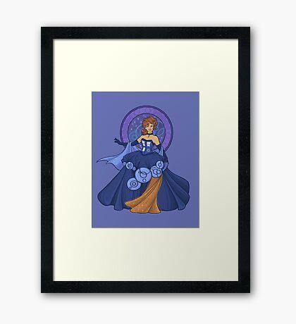 Gallifreyan Girl Framed Print