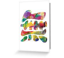 Colourful surfy mu Greeting Card