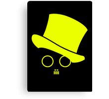 Fat cats and top hats Yellow Canvas Print