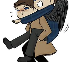 Misha Collins & Castiel Piggyback by Citra K