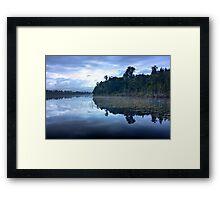 The Blue Lake... Framed Print