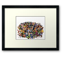 Amiga Game Characters Framed Print
