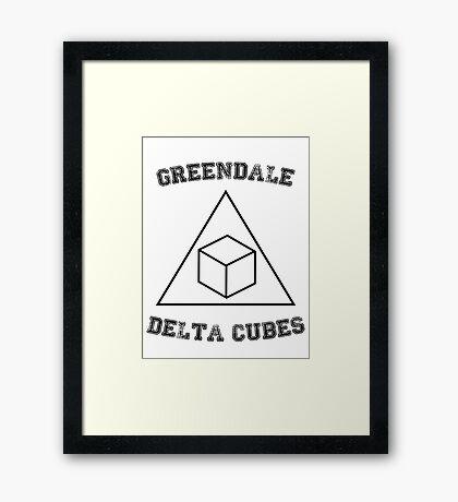 Greendale Delta Cubes Framed Print