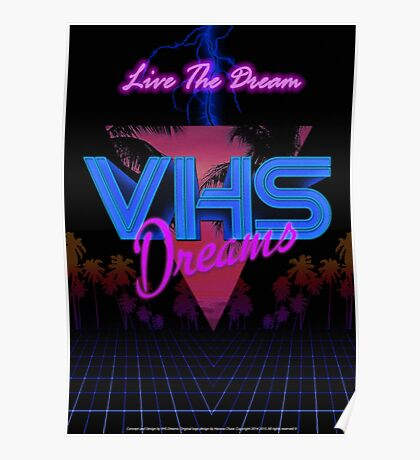 VHS Dreams Live the Dream - Palms Version Poster