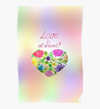 Love is all around Poster