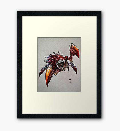 The Devil in the Dark Framed Print