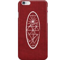 Red Fabric White Oval iPhone Case/Skin