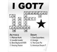 GOT7 Crossword Puzzle Poster