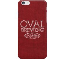 Red Fabric White Text iPhone Case/Skin