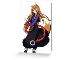 Holo - Spice and Wolf Greeting Card