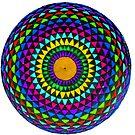 Multi-Colored Mandala by WienArtist