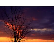 Winter Sunset on the Prairies 1 Photographic Print