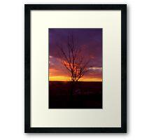 Winter Sunset on the Prairies 2 Framed Print