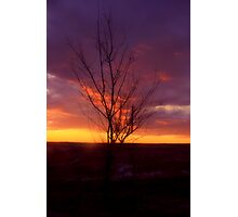 Winter Sunset on the Prairies 2 Photographic Print
