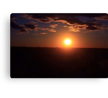 Winter Sunset on the Prairies 3 Canvas Print