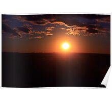 Winter Sunset on the Prairies 3 Poster