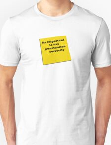 Its important to use punctuation correctly T-Shirt