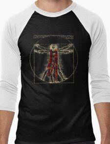 """Da Vinci Meets the Doctor - """"Reds"""" (for Dark T-shirts) Men's Baseball ¾ T-Shirt"""