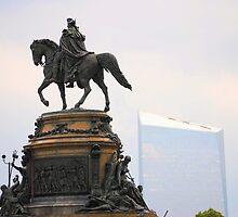 Washington Memorial Fountain by DAVID  SWIFT